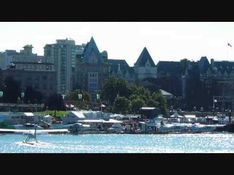 Float plane docking.in Victoria harbour Vancouver Island British Columbia Canada