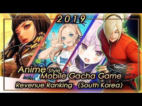 (South Korea) 2019 FULL YEAR Anime Gacha Mobile Game Revenue Tier List