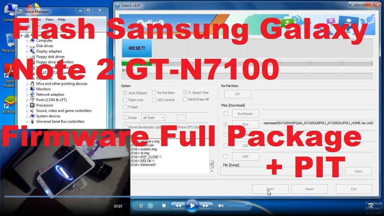 Flash Samsung Galaxy Note 2 (GT-N7100)