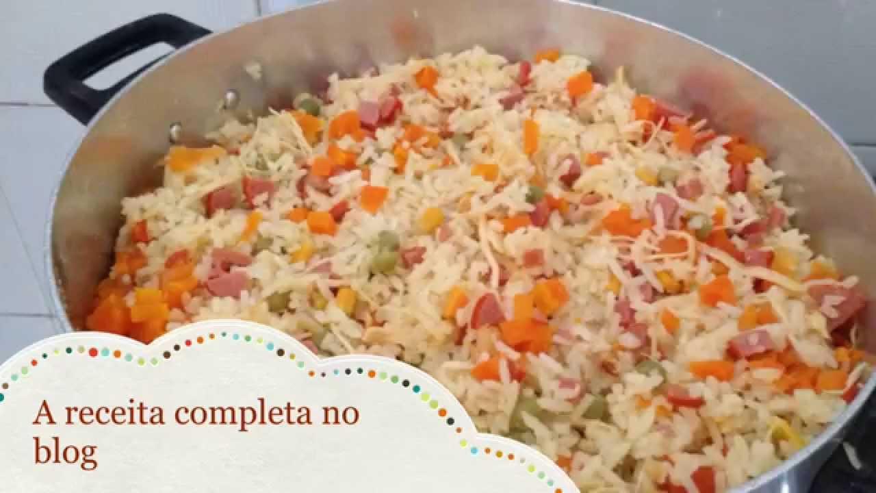 Receitando com a mamis arroz de risoto youtube for Cocinar 2 tazas de arroz
