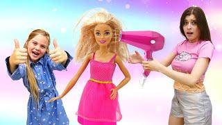 Куклы в видео онлайн У Барби и Кена свидание Причёска и макияж для куклы Игры одевалки