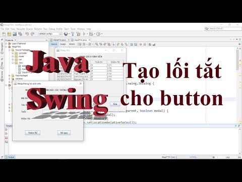 Java Swing 005: Thiết lập phím tắt và chú thích chức năng cho Button.