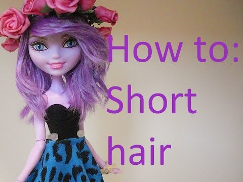 how to fix frizzy doll hair boil wash and straighteni doovi. Black Bedroom Furniture Sets. Home Design Ideas