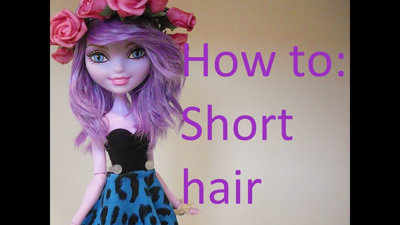 How to give no cut short hair on dolls by eahboy youtube winobraniefo Image collections