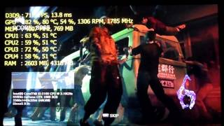 Resident Evil 6 | Core i3 2100 - GTX 1060 3GB | Maxed Out 1440p Benchmark