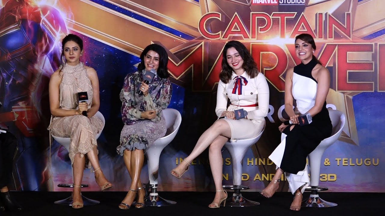 Download Tamannaah, Kajal Aggarwal, Rakul Preet, Samantha talks about female super hero   CAPTAIN MARVEL