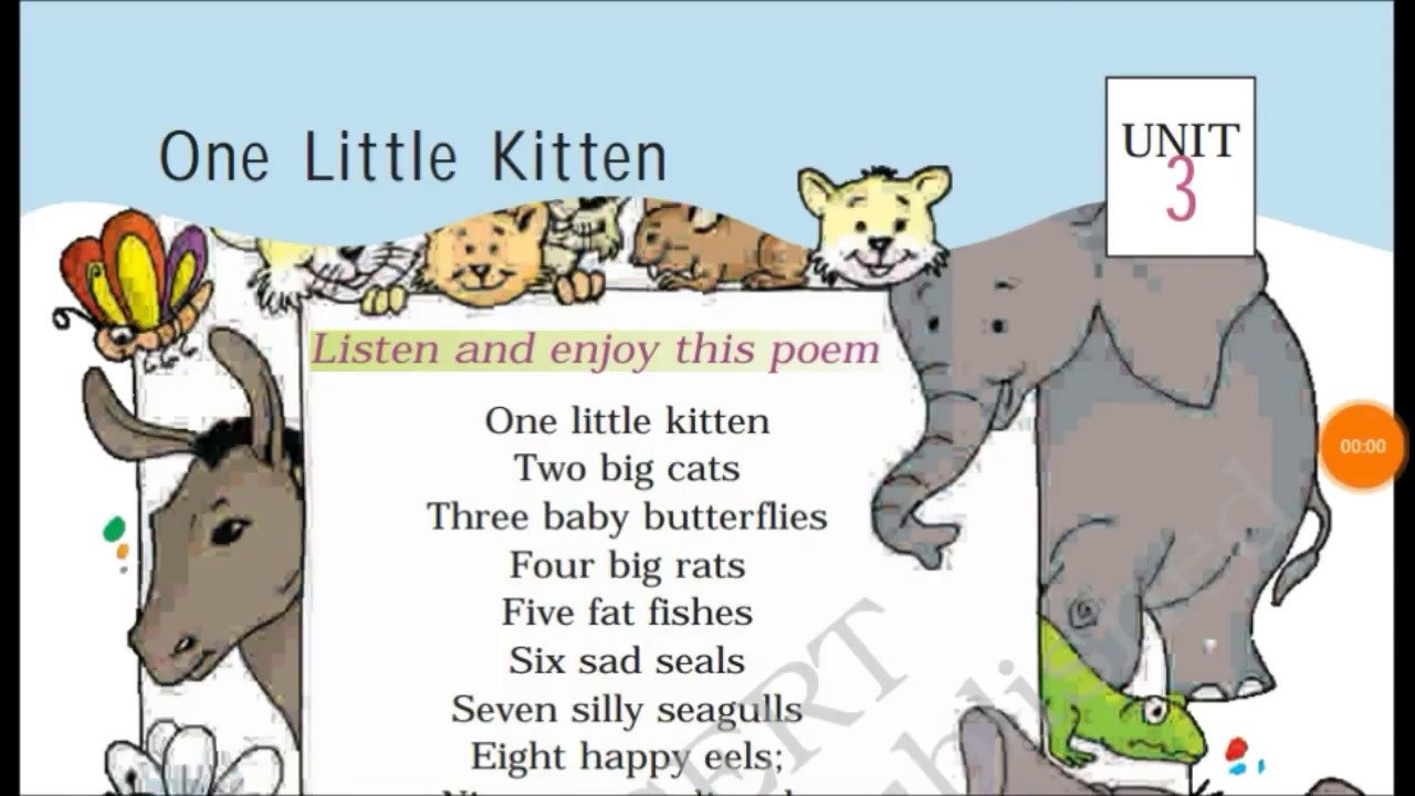 Class 1 One Little Kitten Chapter Of Marigold Book Hindi Explanation Youtube