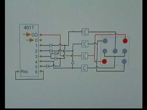 Electronic dice circuit - YouTube