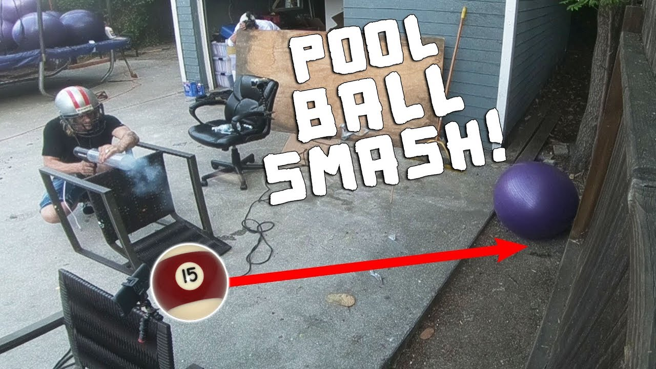 Pool Ball Smash Part 2!! (BROKE THE FENCE)