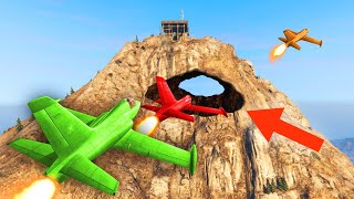 HOW TO FLY THROUGH MOUNT CHILIAD! (GTA 5 Funny Moments)