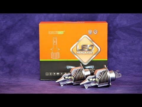 Отличные автомобильные светодиодные LED-лампы CNSUNNYLIGHT H4 ТЕСТ