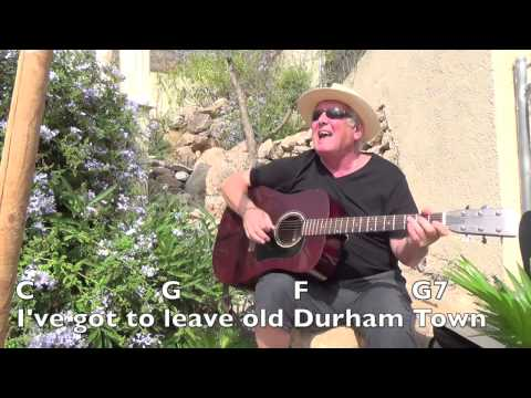 Durham Town - Roger Whittaker cover - easy chords guitar lesson with  on-screen chords and lyrics