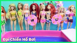 Đồ Chơi Trẻ Em - Đại Chiến Tại Hồ Bơi - Tập hợp Tất cả búp bê đẹp thi thời trang đồ tắm (chibido.vn)