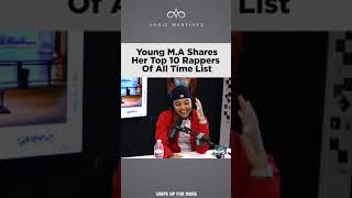 Young Ma lists her Top 10 Rappers