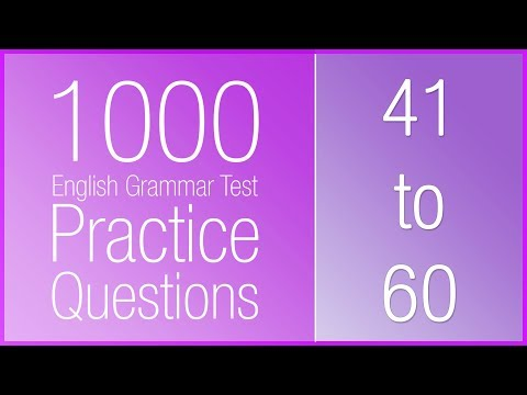 [41-60] 1000 English Grammar Test Practice Questions (Past Simple)