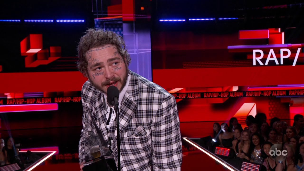 Post Malone Wins Favorite Album - Rap/Hip-Hop at the 2019 AMAs - The American Music Awards