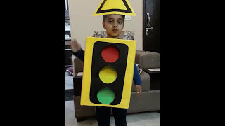 Traffic Light Rhymes for Recitation in school for Nursery and Pre-primary class