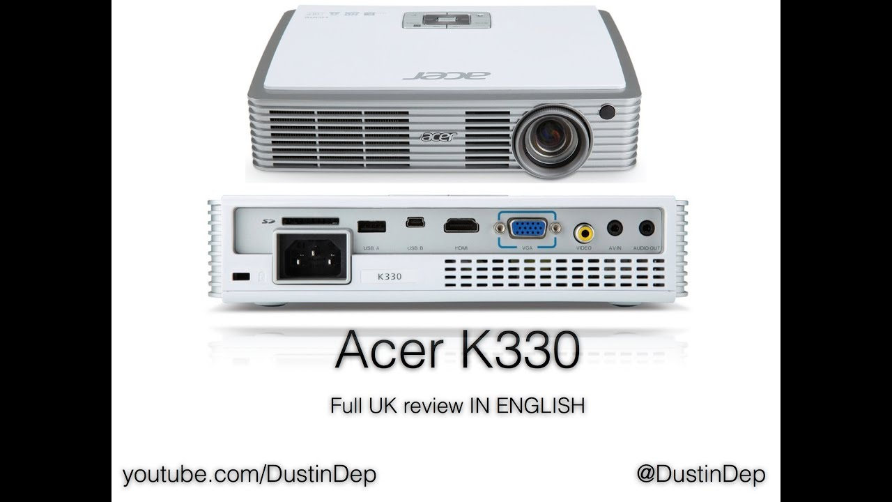 acer k330 mobile projector full review youtube rh youtube com Lenovo K330 Motherboard Acer K330 Projector Review