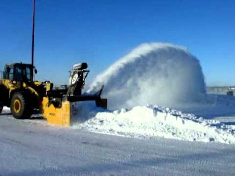 Mp 3d Loader Mounted Snow Blower Youtube