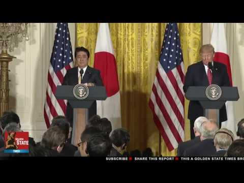 President Donald Trump and Japanese Prime Minister Shinzo Abe Answers Press Questions!!!