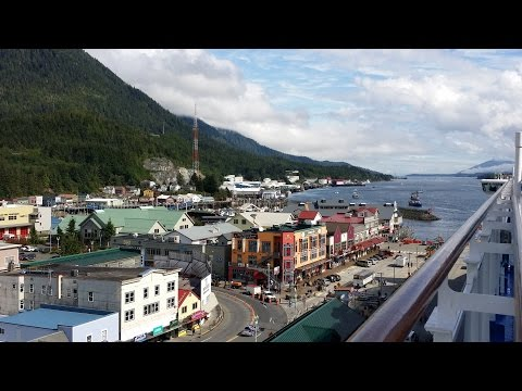 Princess Cruise to Alaska. Day-10. Ketchikan. Aerial View in 4K