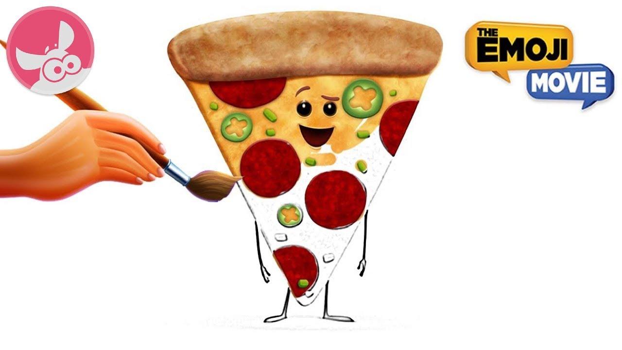 The Emoji Movie 2017 Painting The Emoji Film Pizza Kleurplaat