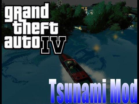 Tsunami hits Liberty City (GTA IV Tsunami Mod)