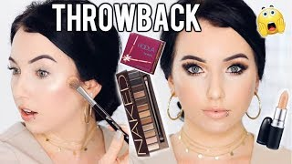THROWBACK MAKEUP! Full Face Using Old Favorites & Hyped Up Products