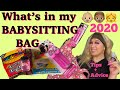 Whats in my BABYSITTING BAG!? 2020 (Tips+Advice)👶🏽👧🏼 Essential must haves to babysit***