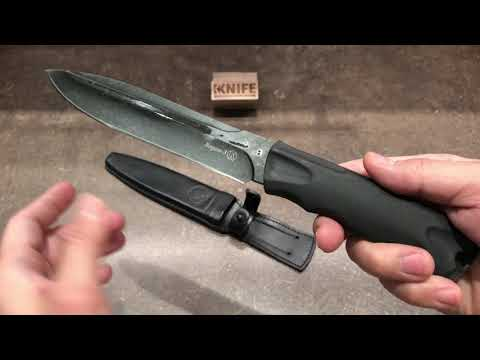 "Нож ""Ворон-3"" Elastron Stonewash от Кизляр"