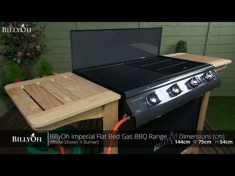 BillyOh Imperial Flat Bed Gas BBQ Range