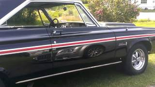 My 1965 Plymouth Belvedere II idiling
