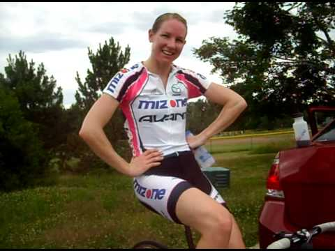 Alison Shanks Cooling Down After Time Trial Victory