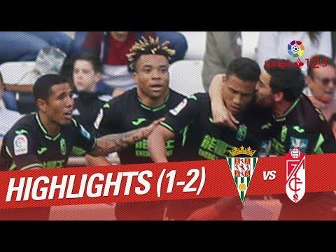 Resumen de Córdoba CF vs Granada CF (1-2)