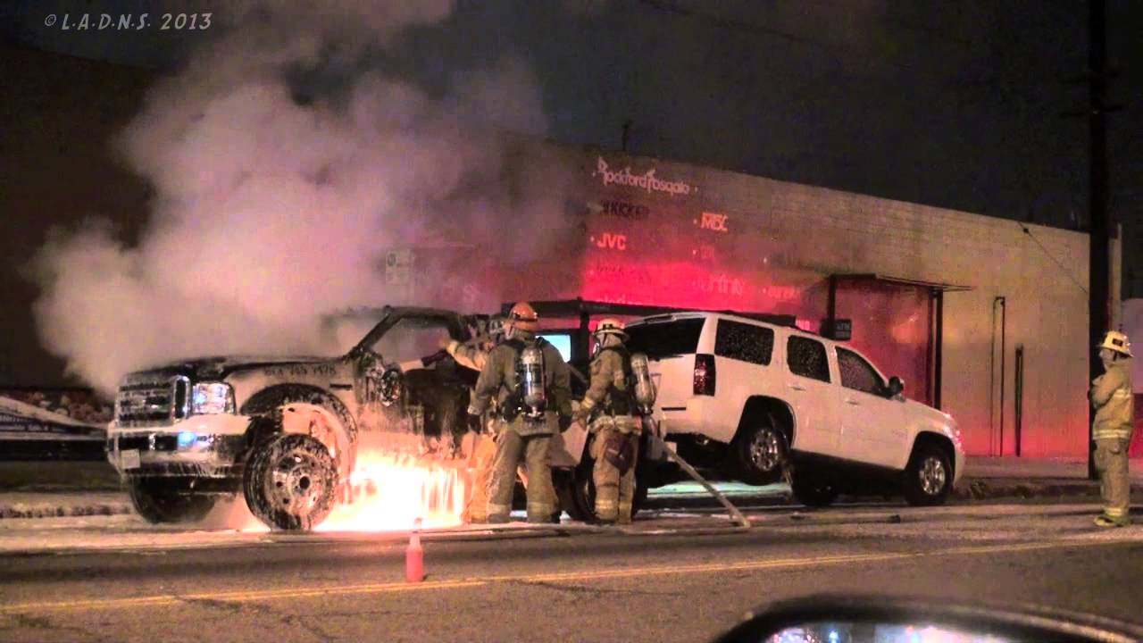 LAFD / Tow Truck Fire - YouTube