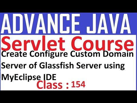 154 Create, Configure Custom Domain Server Of Glassfish Server Using MyEclipse IDE Servlet Tutorial