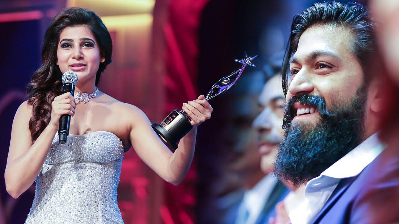 Download Yash Adoring Samantha's Beautiful Lines After Winning Youth Icon Award At SIIMA