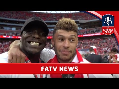 AKINFENWA INTERVIEWS ARSENAL AS THEY WIN EMIRATES FA CUP!