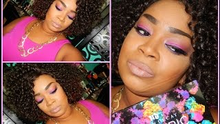 Inspired Look| Pink & Purple Feat. Urban Decay Electric Palette Thumbnail