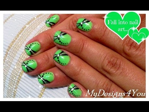 Easy Summer Nail Art Design | How to Dragonfly Nails | Green Nails ♥