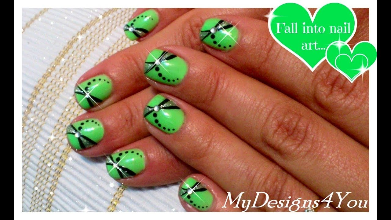 Easy Summer Nail Art for Short Nails ♥ - YouTube