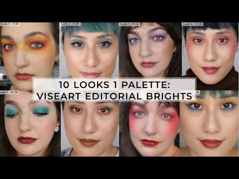 10 Look 1 Palette Using Viseart Editorial Brights ft. Skinchronicity (Alana)