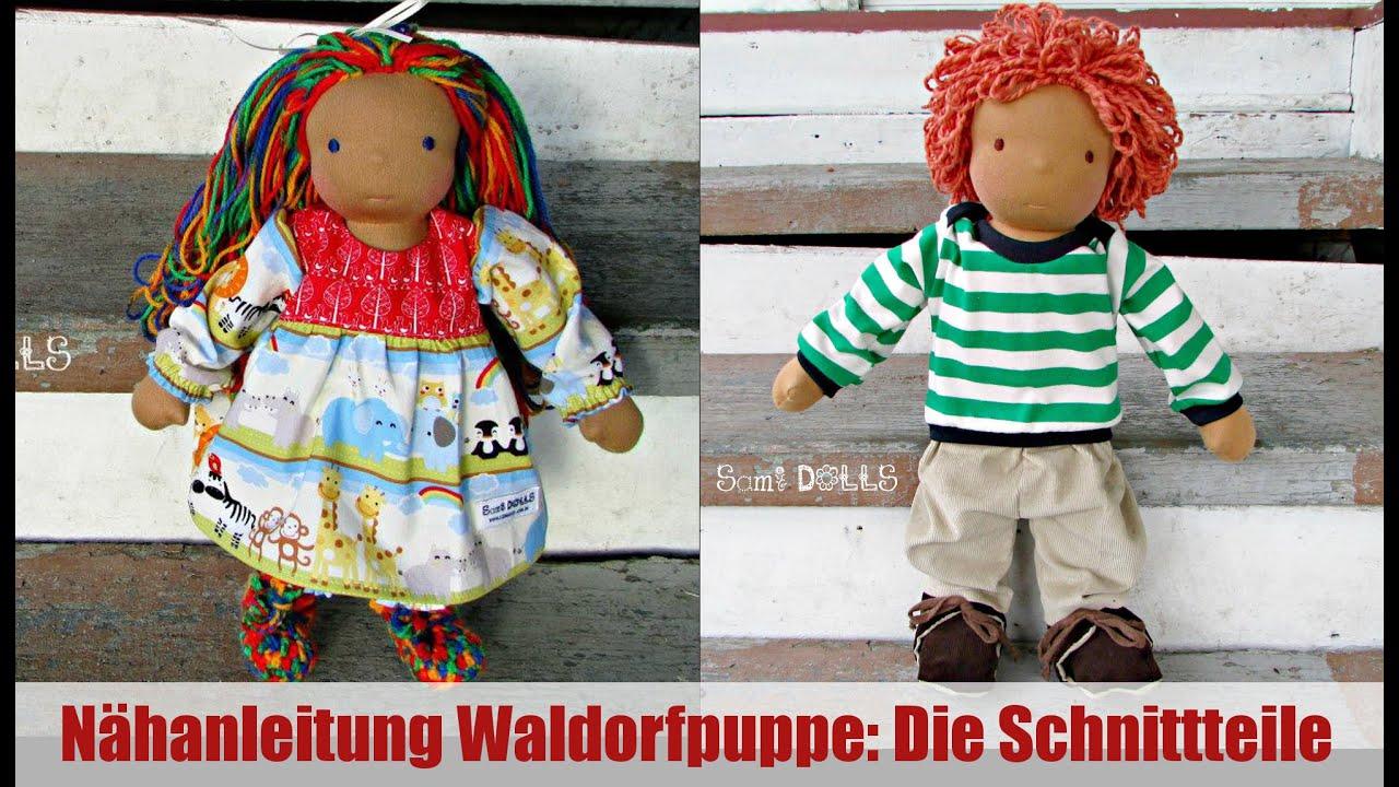 Diy Waldorfpuppe Die Schnittteile Klassische Sami Doll