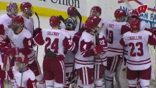 Repeat youtube video Big Second Period Helps Badgers Beat Gophers