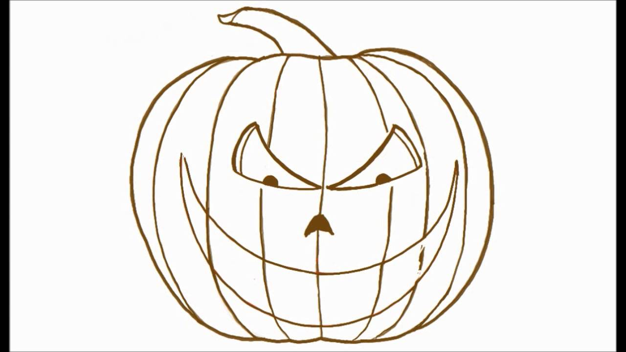 How To Draw A Scary Halloween Jack O Lantern