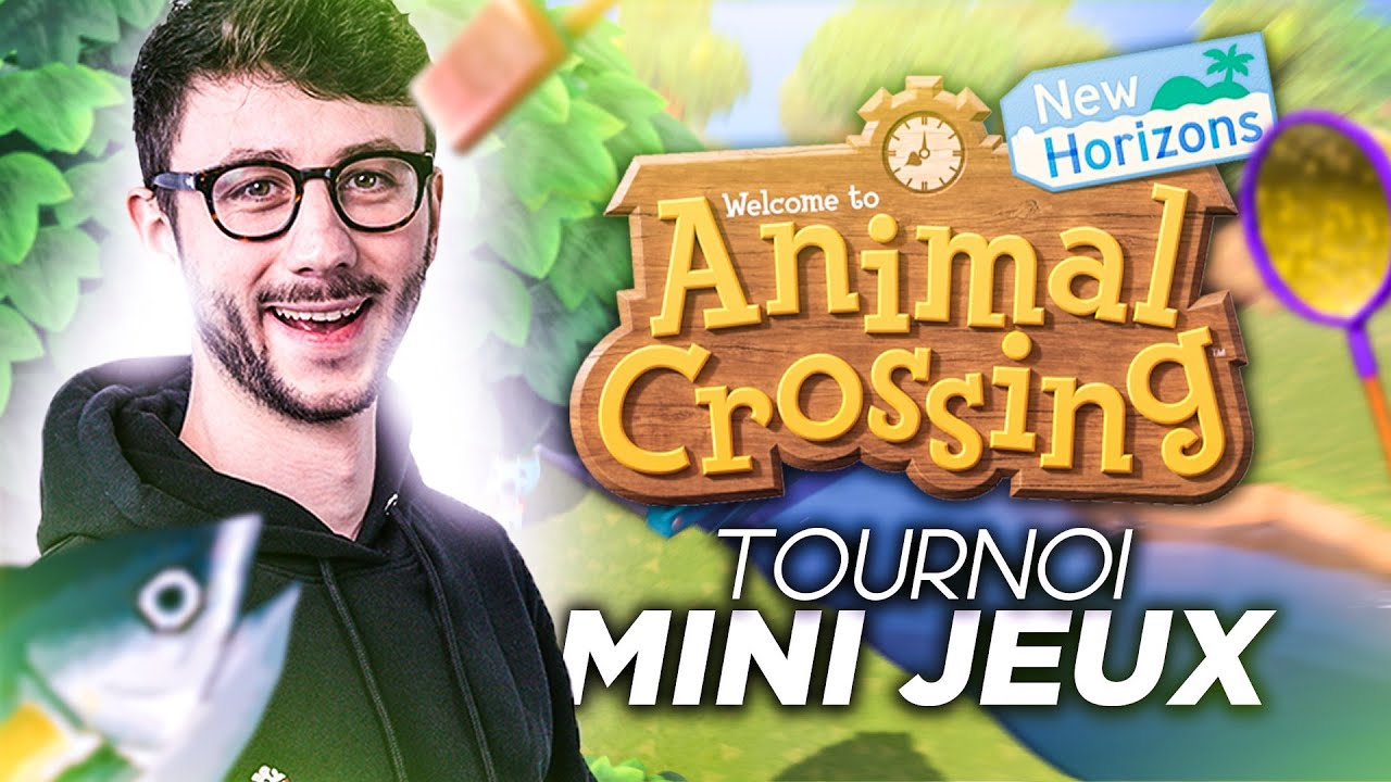 ÉNORME TOURNOI DE MINI-JEUX SUR ANIMAL CROSSING - PONCE ANIMAL CROSSING