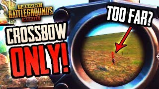 CAN I HIT THIS SHOT? CROSSBOW ONLY CHALLENGE IS BACK!