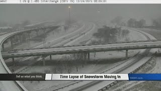 Time Lapse of Snowstorm Moving In