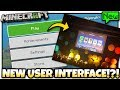Minecraft - NEW USER INTERFACE !?! [ LEAKED?! ] MCPE / Xbox / Bedrock / Console / Java