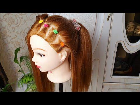 Причёска для маленьких девочек 👸
